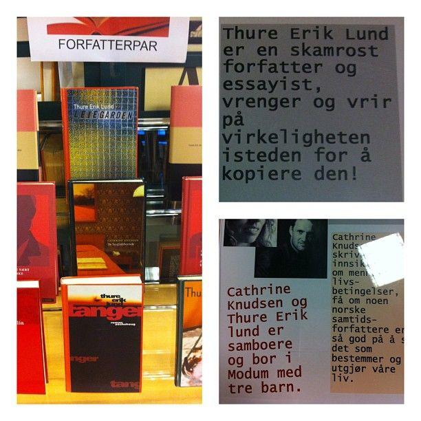 "@sandefjordbibliotek's photo: ""Hver mnd #forfatterpar #utstilling #bøker #mittbibliotek #sandefjordbibliotek"""