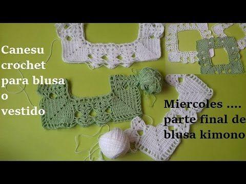 ❤Blusa Fashion en Crochet ( ganchillo) con Motivos de Hojas y Espigas a la Talla Deseada *(Parte #1) - YouTube