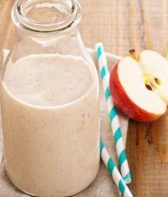 Aprenda a fazer uma vitamina de maçã, aveia, chia e linhaça. deliciosa para o pré-treino e super nutritiva.