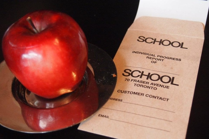 I love when a brand follows through with its theme. School for brunch. Toronto. Nearafar.wordpress.com
