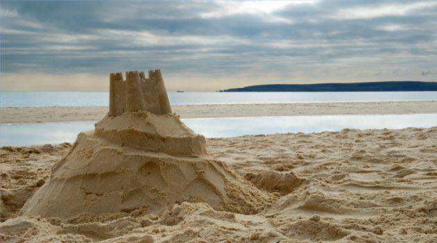 Sandcastle building