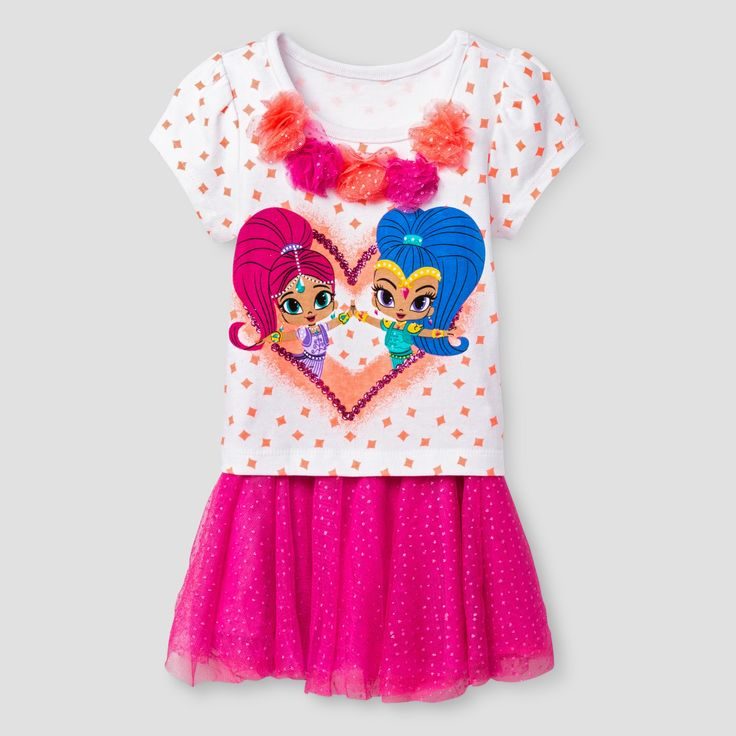 Baby Girls' Shimmer and Shine Top And Bottom Set - Pink 18M, Size: 18 M