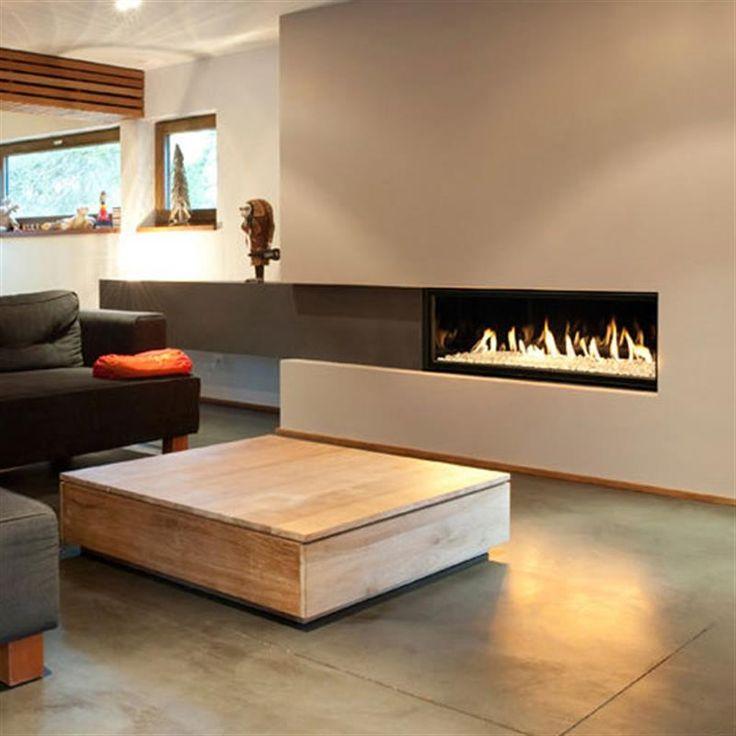 Pour recevoir les amis autour d'une flambée ...au gaz naturel. #cheminée #gaz #confort #design