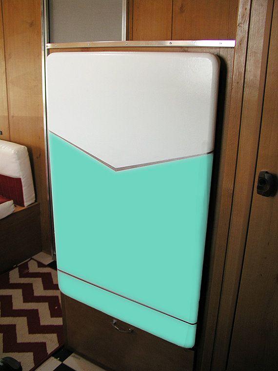 Refrigerator+cover+for+a+Shasta++White/Seafoam