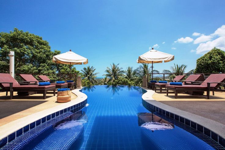 Koh Samui Holiday Villa #kohsamui #samui #thailand #asianluxuryvillas _____________________ This villa is an exceptional five bedroom hillside villa with spectacular ocean views in Ban Tai on the North West coast of Koh Samui