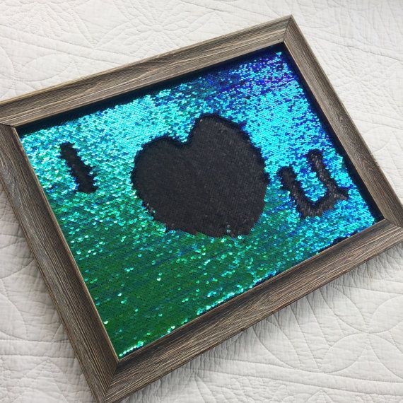 Mermaid sequin notice board Write your own by Jellibabies1