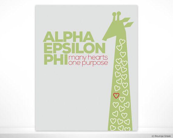 AEPhi Alpha Epsilon Phi Many Hearts One Purpose by BoutiqueGreek