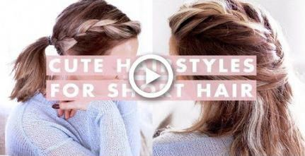 3 Easy Hairstyles For Short/Medium Length Hair #hair #Easyhairstyles