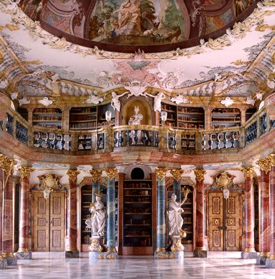 Gorgeous European Libraries - by Christoph Seelbach Wiblingen, Klosterbibliothek