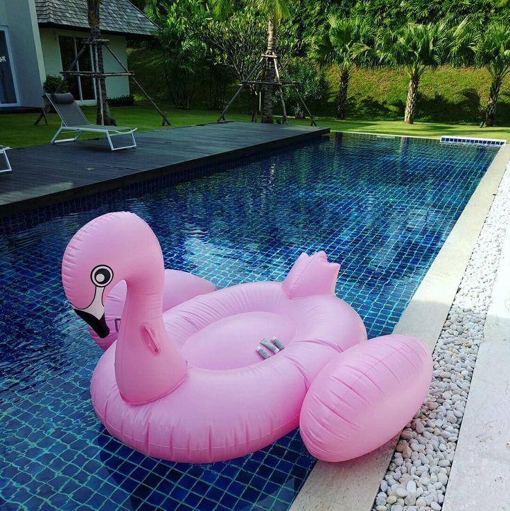 I see something grey & pink on a hot pink flamingo... Story Seoul globe trotters in Phuket, Thailand.