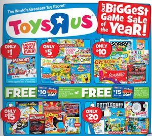 Toys R Us: Great Deals on Hasbro Board Games Including $1 Memory, $5 Monopoly and Kids Cranium and much more!
