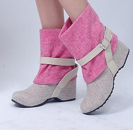 $34.79 Dresswe.com SUPPLIES New Height Increasing Korean Style Ankle Boots