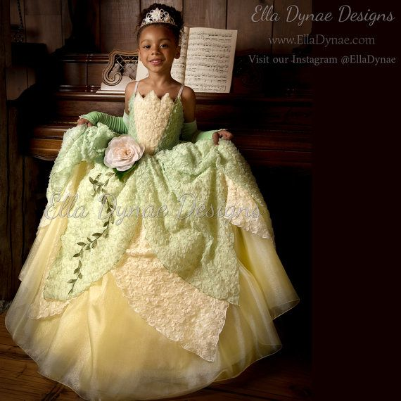 Tiana Costume Princess and The Frog Gown Tutu Dress by EllaDynae