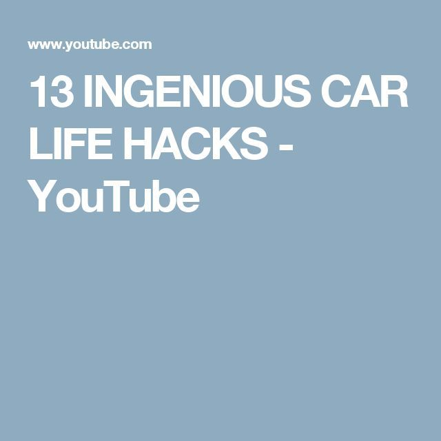 Cool Cars hacks 2017: 13 INGENIOUS CAR LIFE HACKS - YouTube...  organization ideas Check more at http://autoboard.pro/2017/2017/04/02/cars-hacks-2017-13-ingenious-car-life-hacks-youtube-organization-ideas/