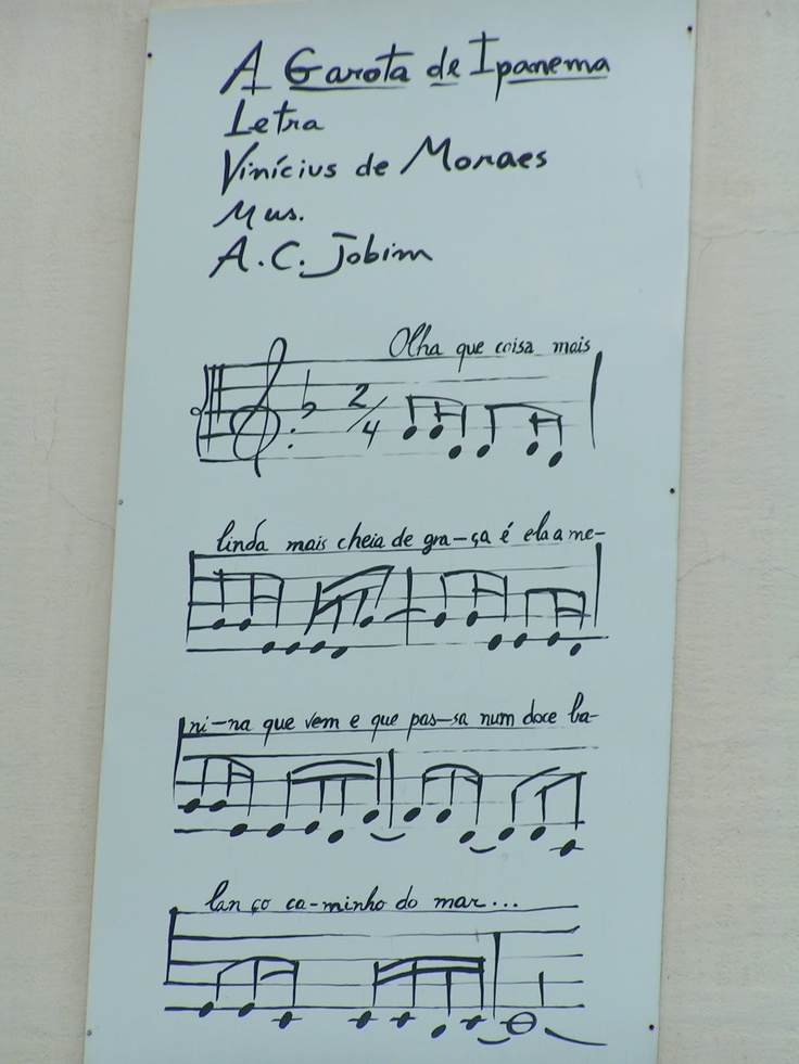 GAROTA DE IPANEMA - VINICIUS DE MORAES - RJ