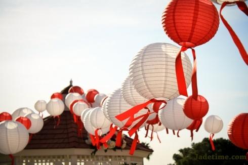 Jolies lanternes pour ceremonie de mariage