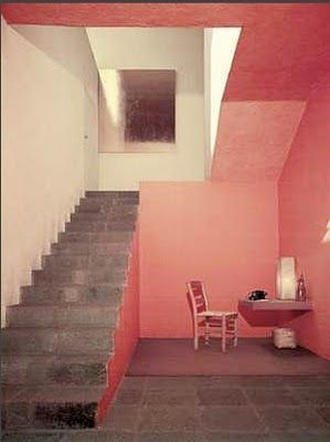 luis barraganStairs, Pink House, Interiors, Louis Barragan, Colors Schemes, Pink Room, Luis Barragan, Pink Wall, Design