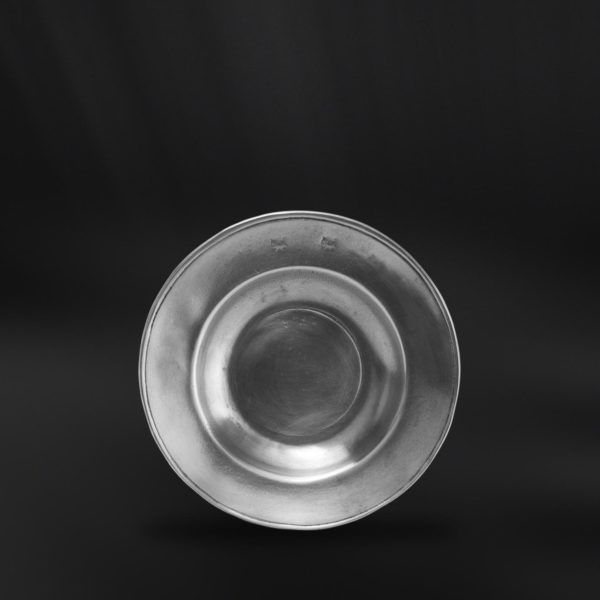 Small Pewter Plate - Diameter: 11 cm (4,3″) - Food Safe Product - #pewter #small #plate #peltro #piattino #zinn #kleine #teller #zinnteller #étain #etain #assiette #plat #peltre #tinn #олово #оловянный #tableware #dinnerware #table #accessories #decor #design #bottega #peltro #GT #italian #handmade #made #italy #artisans #craftsmanship #craftsman #primitive