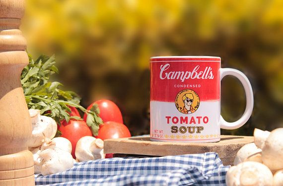 Andy Warholl Campbell's Soup Mug by Trazofresco on Etsy