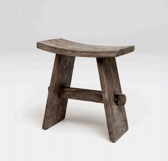 Artistic, rustic, and modern all in one. | Renzo Japanese Stool | $330 | thepicketfence.com