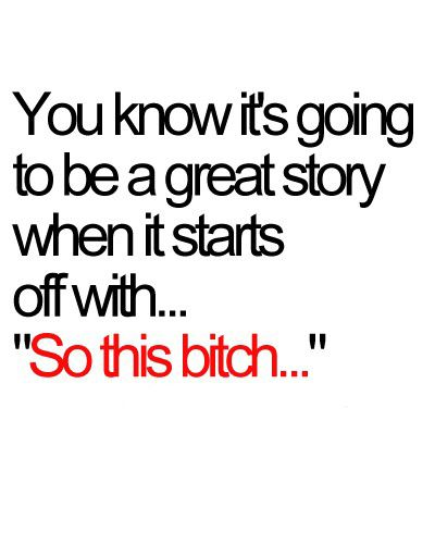 I've heard many good stories beginning like this...