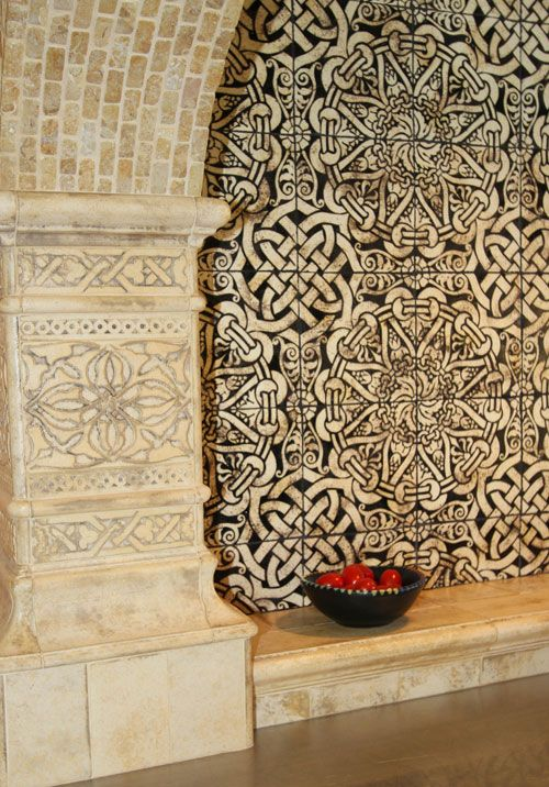 Mediterranean splash: Cream Kitchens, Encaustic Tile, Filmor Clarks, Celtic Design, Kitchens Tile, Wall Tile, Photo, Kitchen Tiles, Tile Mosaics