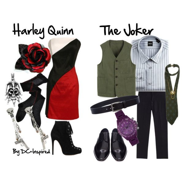 harley quinn and joker wedding   fashion look from May 2012 featuring Trasparenze tights and ...
