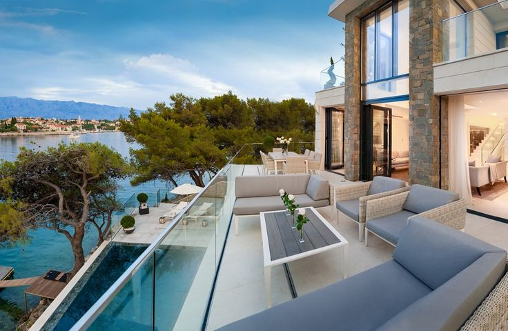 Sumartin Bay House. A five-star villa in a fabulous location, this very chic house boasts a water's edge setting on the island of Brac, with its own fishing jetty and serene views from the exceptional swimming pool.