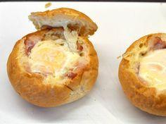 Reggeli tojásos-baconos zsemle recept