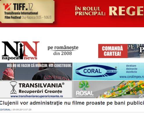 Iubire şi scandal gay între NapocaNews şi TIFF
