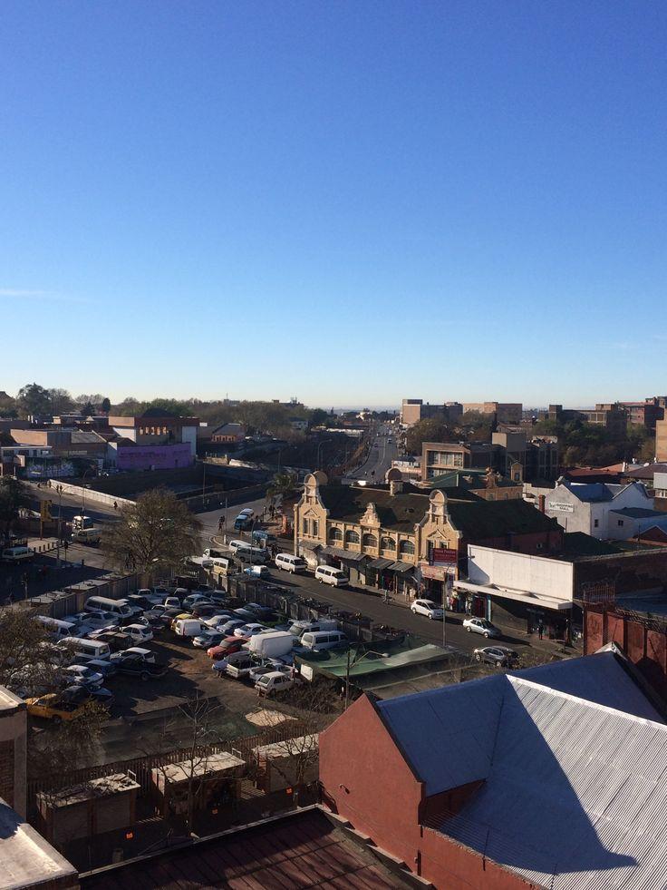 Rooftop View of Jules Street: Taken from Arts on Main (Maboneng)