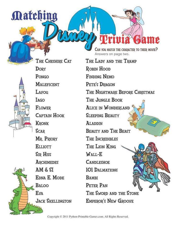 Disney Trivia