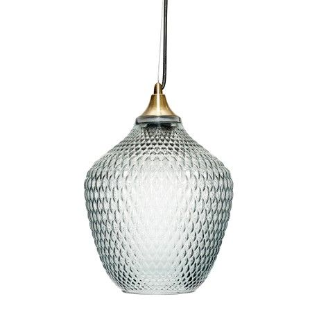 Hubsch Blue Glass Lamp - Trouva