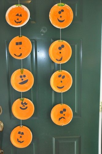 Jack-O-Lanterns Paper Plates Craft for Kids