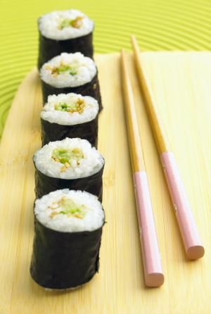 Cucumber sushi rolls - Meike Bergmann/Photodisc/Getty Images