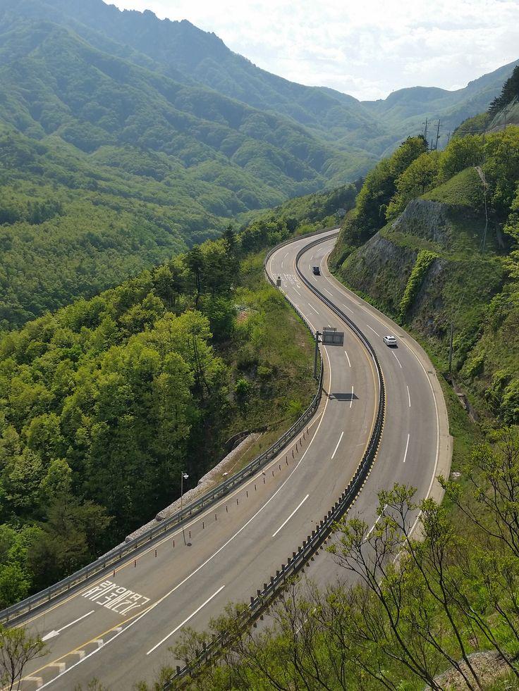 #Misiryeong Penetrating Road, #Gangwon Province Korea   미시령동서관통도로