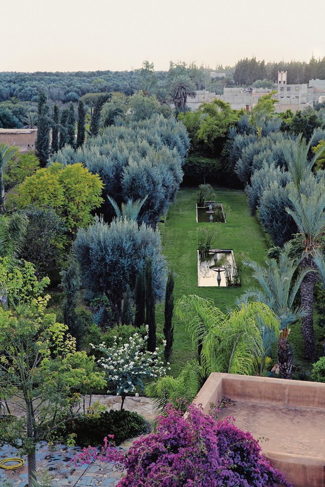 A view of Karl Morchers garden in Taroudant, Morocco.