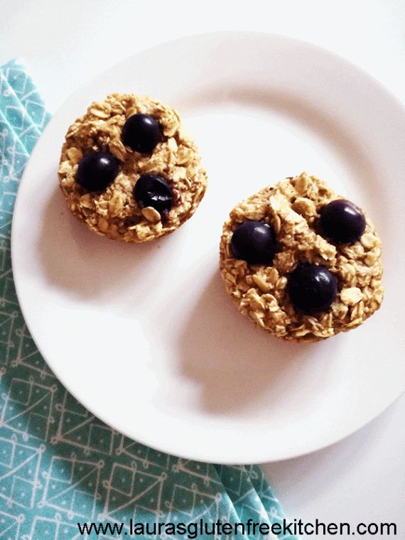 Gluten Free Blueberry Oatmeal Cups