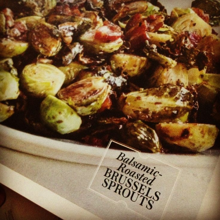 Balsamic Roasted Brussel Sprouts LOL!!!! I won't forget this in the fridge at school Valerie :)