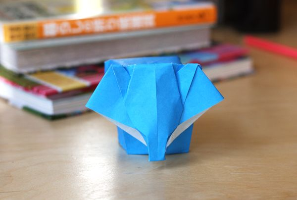 Origami Baby Elephant with a Podgy Derrière - Designed by 李俊 and Demonstrated by Jo Nakashima (http://www.youtube.com/watch?v=dKbQR4mnim8)
