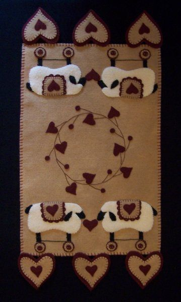 PatternMart.com ::. PatternMart: Love For Ewes Wool Penny Rug Candle Mat PATTERN
