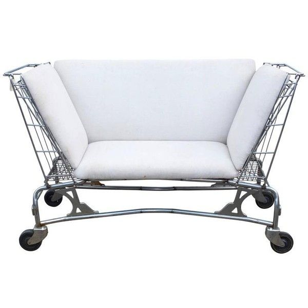 preowned midcentury shopping cart loveseat or settee liked on polyvore