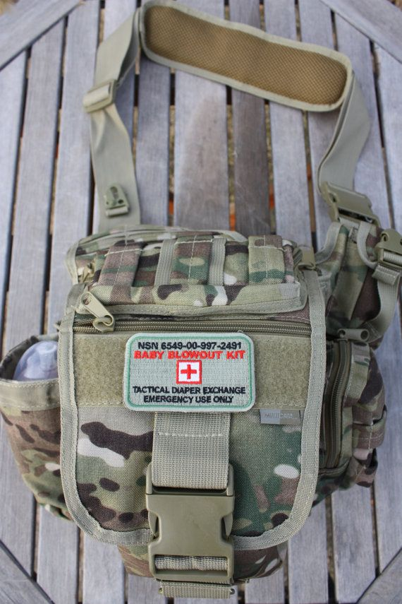 Perfect camo diaper bag for dad! Genuine Multicam Daddy Doodie Bag Military Style by TacticalTot, $69.99