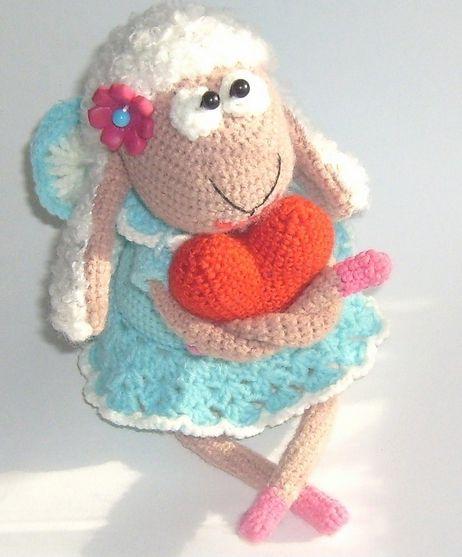 Амигуруми: Овечка Lovely. Бесплатная схема для вязания игрушки. FREE amigurumi pattern. #амигуруми #amigurumi #схема #pattern #вязание #crochet