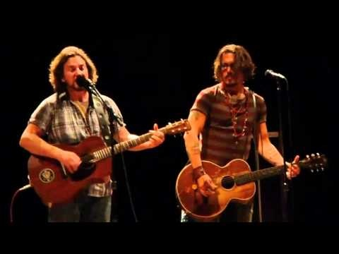 Johnny Depp playing guitar onstage with Eddie Vedder. Not silly. Just awesome. (PS. I was there when this was filmed. Pretty sure the most spastic lady screaming is yours truly.)
