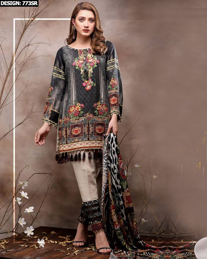 dcb629fbeb BUY LawnLady 3Pcs Swiss Lawn Suit with Chiffon Dupatta. Design No. 773SR.  **FREE Delivery COD**LIMITED STOCK**VISIT TODAY**
