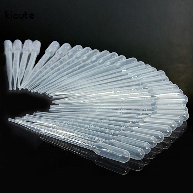 100 PCS/set 3 ML Transparan Pakai Aman Plastik Eye Dropper Transfer Pipet Lulus Pipet untuk Lab Persediaan