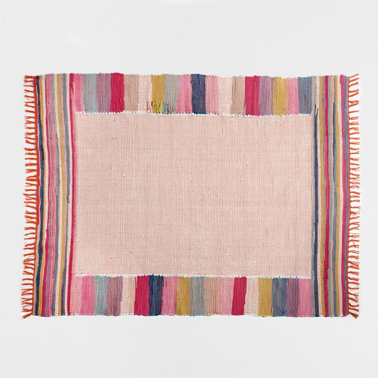 MULTICOLOURED COTTON RUG - Rugs & Curtains - Bedroom | Zara Home United Kingdom