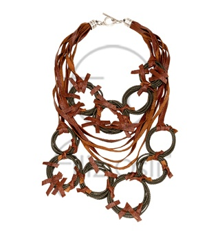 Deri kolye / Leather necklace