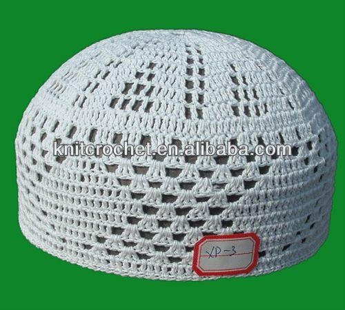 100% Cotton High Quality Hand Knitted Crochet Muslim Prayer Caps Hats, Islamic Prayer Caps $0.59~$2.5